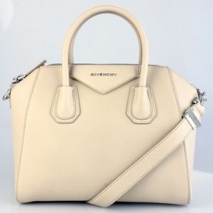 Givenchy Small Antigona beige grained leather
